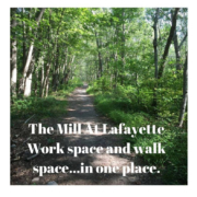 Walking pat in Ryan Park at The Mill At Lafayette in North Kingstown RI